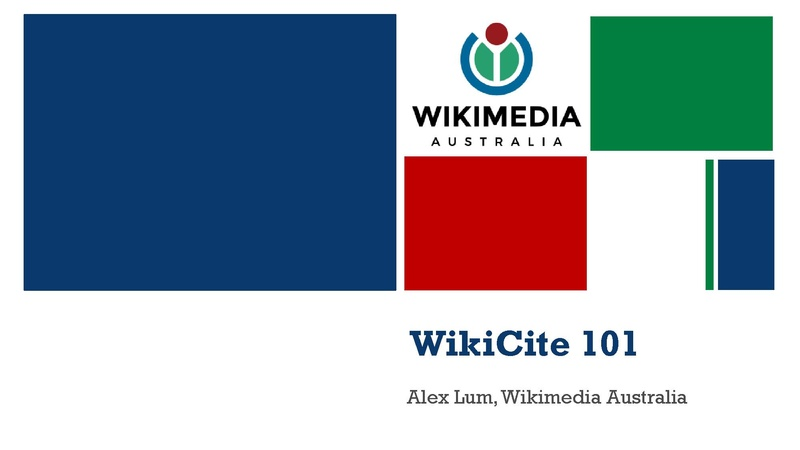 File:WMAU WikiCite and Wikidata.pdf